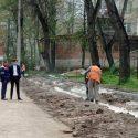 На Ботанике стартовал ремонт подъездных путей к учебным заведениям (ФОТО)