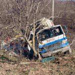 ДТП в Новых Аненах: водитель фургона врезался в дерево (ФОТО)
