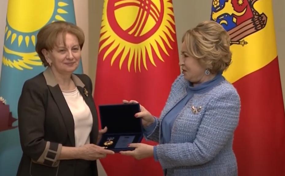 Зинаида Гречаный награждена Орденом Содружества МПА СНГ (ВИДЕО)