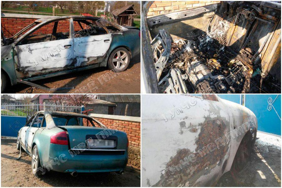 Замкнула проводка: во дворе частного дома сгорел автомобиль