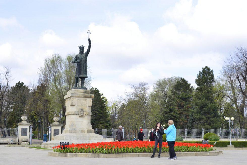 Розы, тюльпаны, бегонии, фиалки: во всех секторах Кишинёва благоустраивают цветники