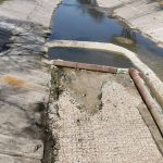 Начались работы по бетонированию русла реки Бык у моста на улице Петру Рареш