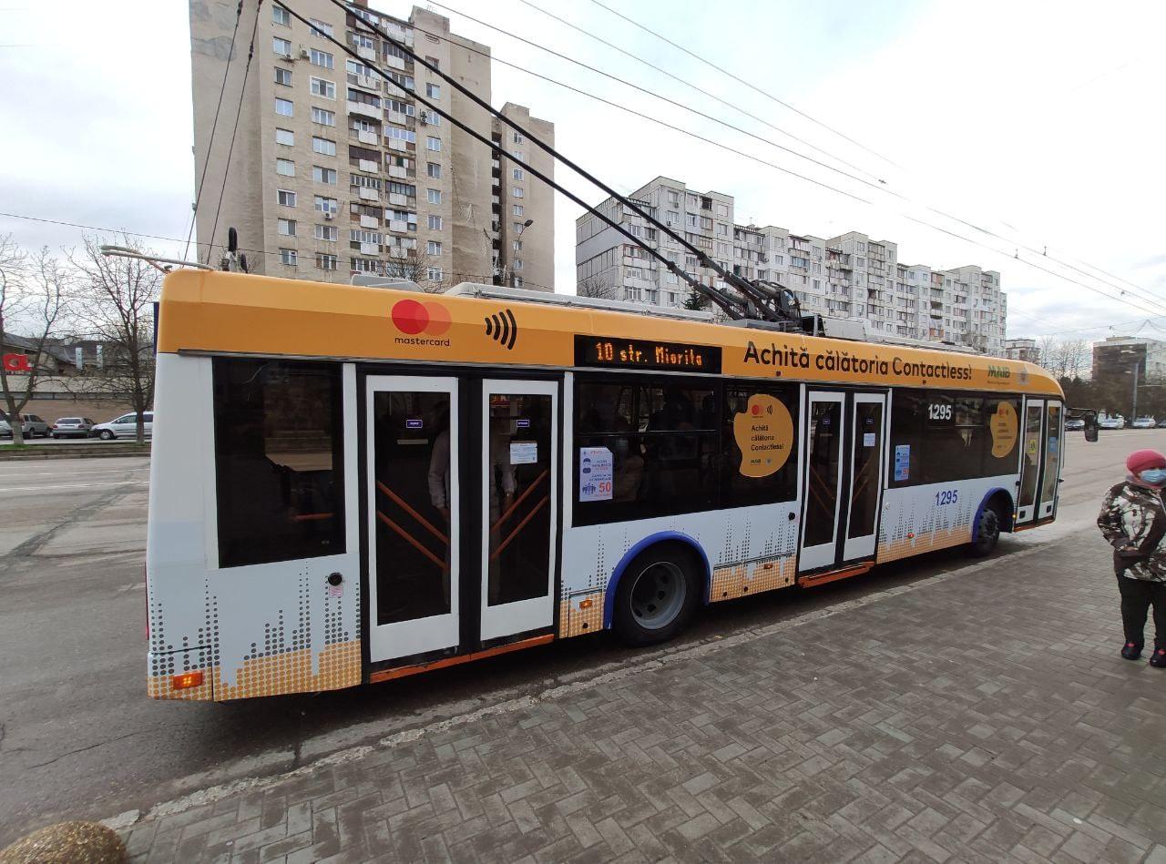 Чебан: За месяц при помощи бесконтактной системы оплачено более 20 тысяч поездок в общественном транспорте Кишинёва