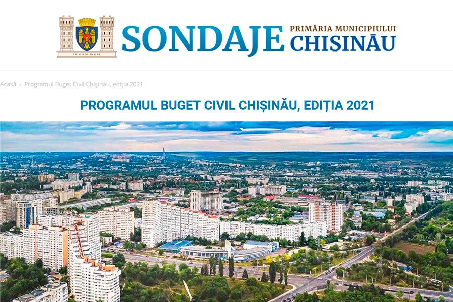 Кишинёвцы могут проголосовать за проекты, представленные в рамках Программы гражданского бюджета