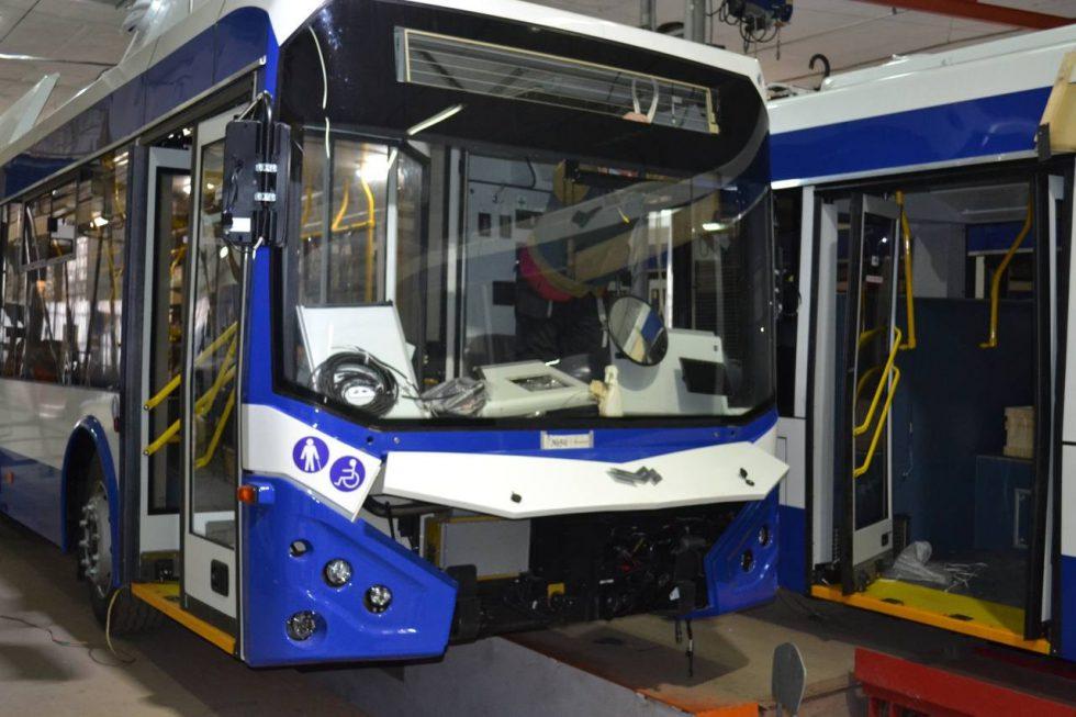 В Кишинёве собирают 10 новых троллейбусов на автономном ходу