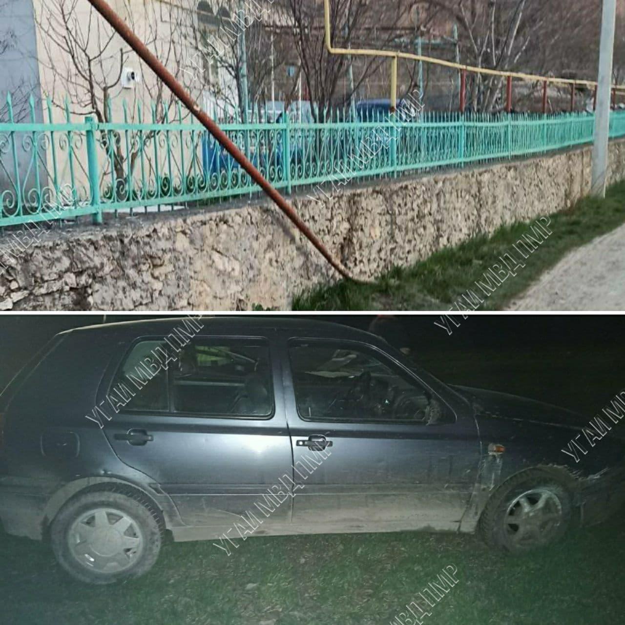 ДТП в Каменке: автоледи сбила опору газовой трубы и уехала