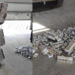 Служебная собака помогла найти контрабандные сигареты (ВИДЕО)
