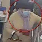 Столичная полиция ищет подозреваемую в краже женщину (ВИДЕО)