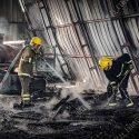 Крупный пожар в Суклее: рассматривается версия поджога