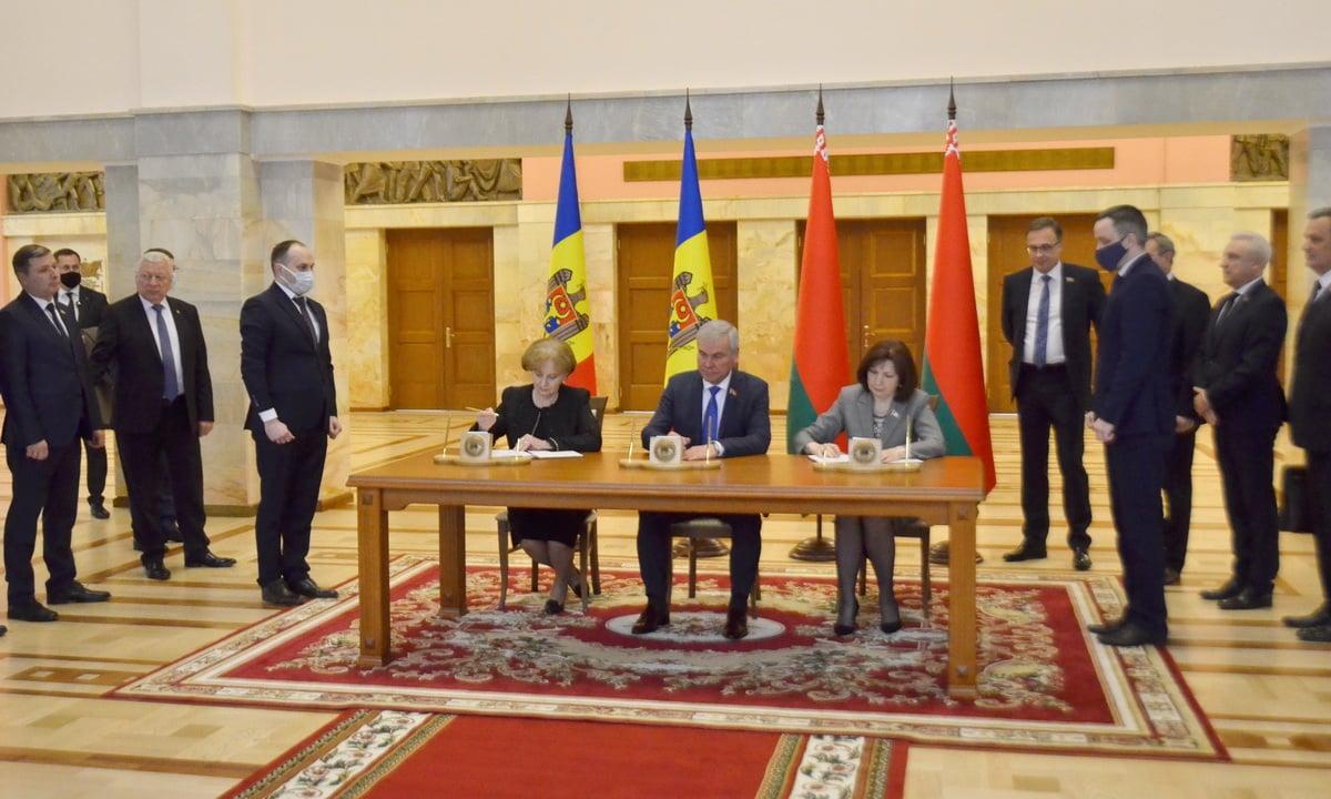 Парламент РМ и Национальное собрание Республики Беларусь заключили соглашение о сотрудничестве (ФОТО)
