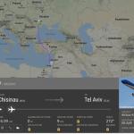 Самолёт рейса Кишинёв - Тель-Авив кружил над морем около часа из-за ракетных обстрелов Израиля