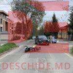В столице автомобиль сбил водителя скутера. Мужчина госпитализирован
