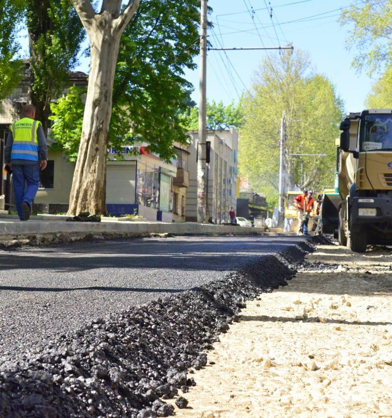 Чебан проинспектировал ход ремонта улицы Иона Крянгэ