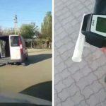 Пьяный водитель разъезжал на машине без двери по улицам Бельц (ВИДЕО)