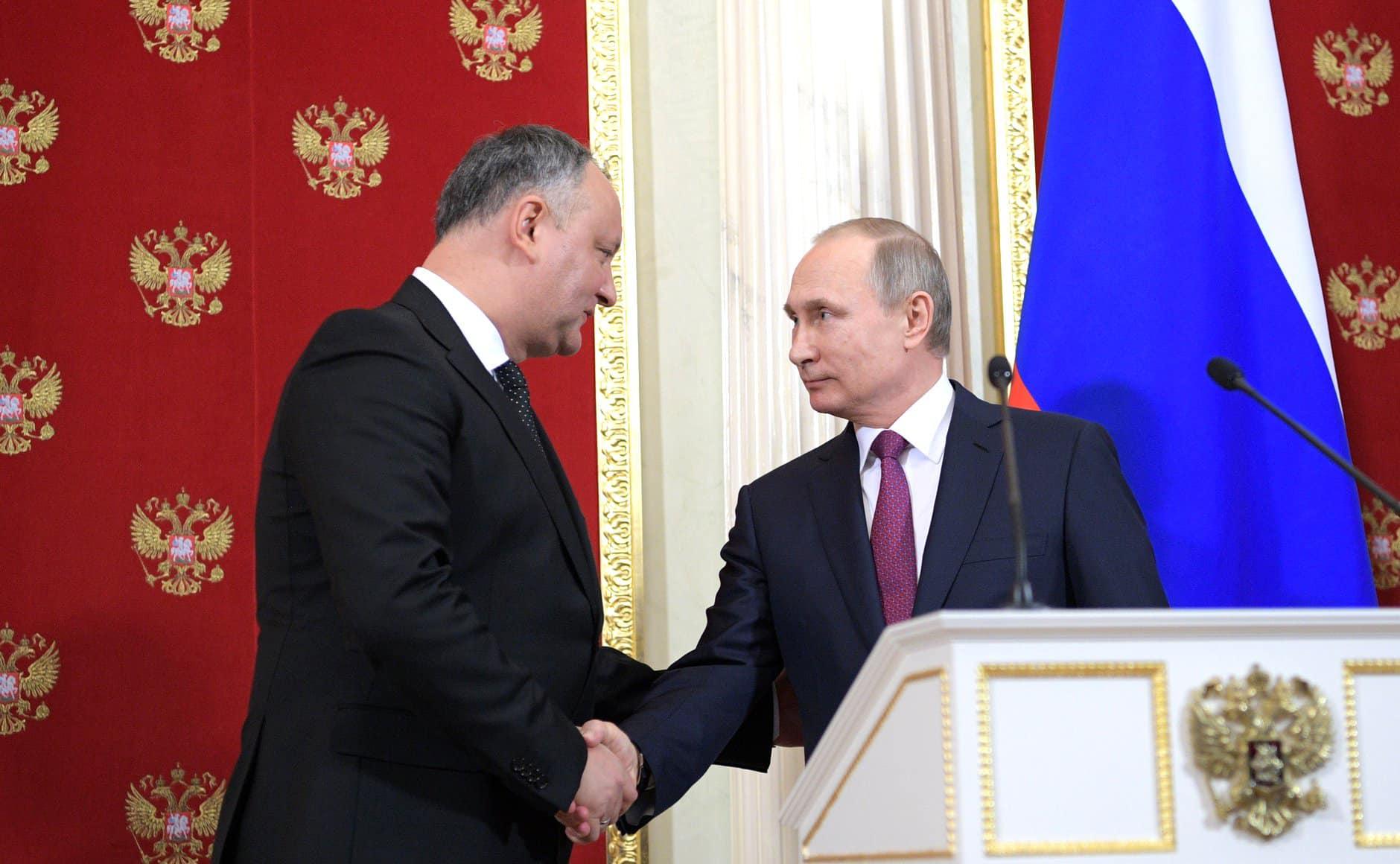 Додон поздравил Путина с Днём России: РФ – наш самый искренний друг и самый надёжный стратегический партнёр!