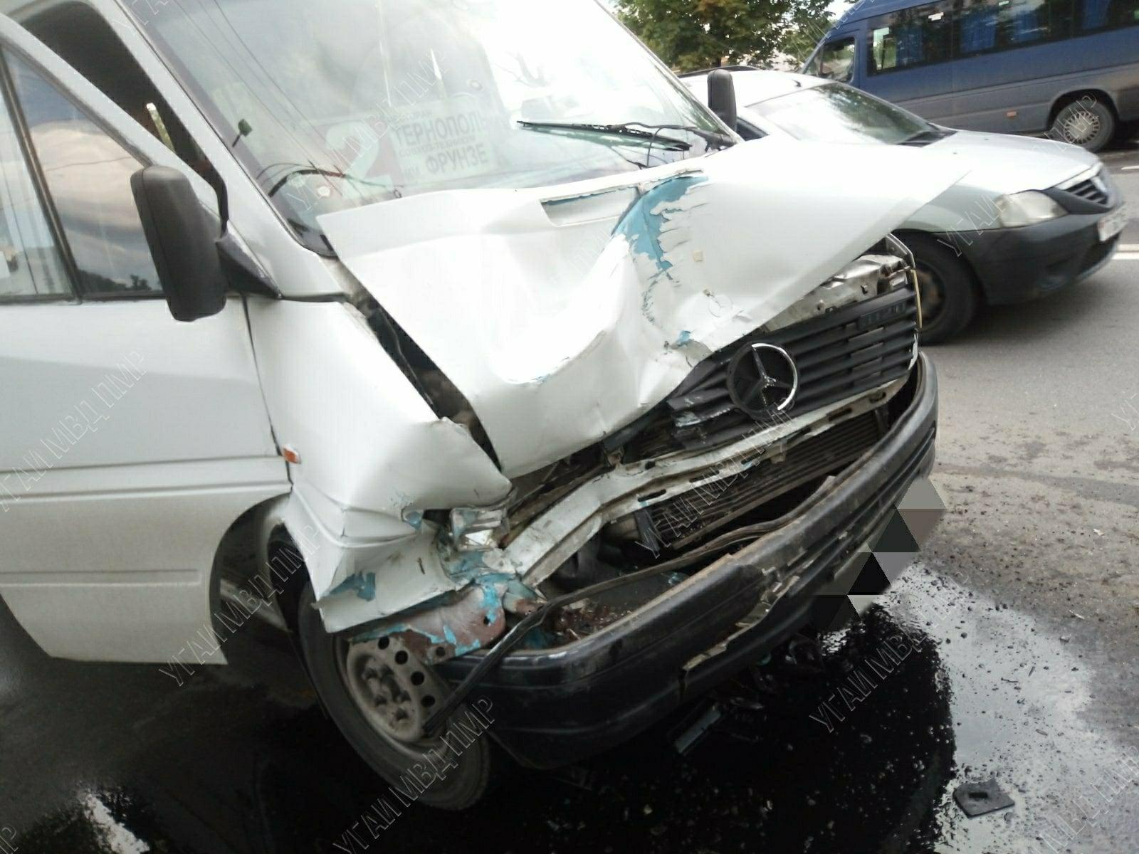 ДТП в Тирасполе: столкнулись две маршрутки с пассажирами