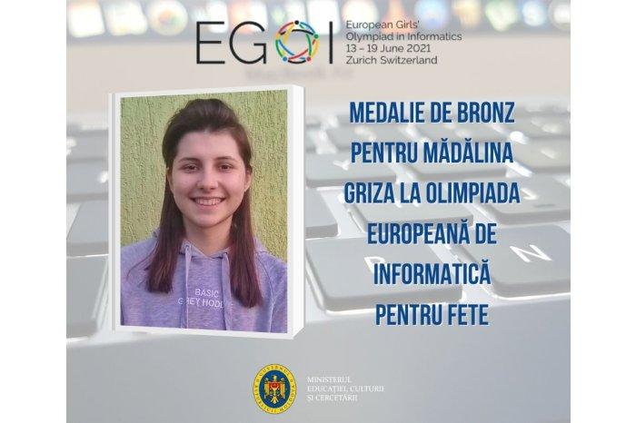 Школьница из Кишинёва стала бронзовым призером Европейской олимпиады по информатике