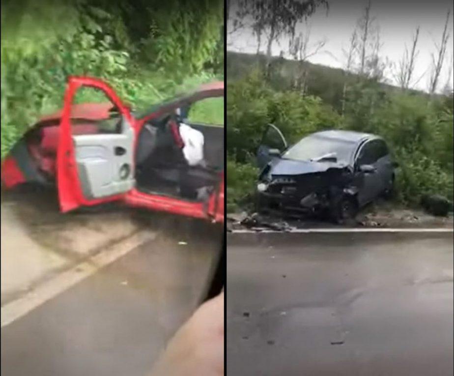 Две машины столкнулись лоб в лоб в Тогатино: есть пострадавшие (ВИДЕО)
