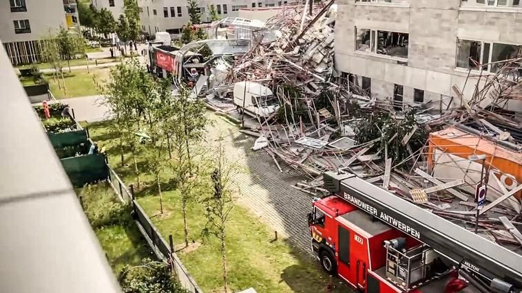 В Бельгии обрушилось недостроенное здание. Среди жертв есть граждане Молдовы