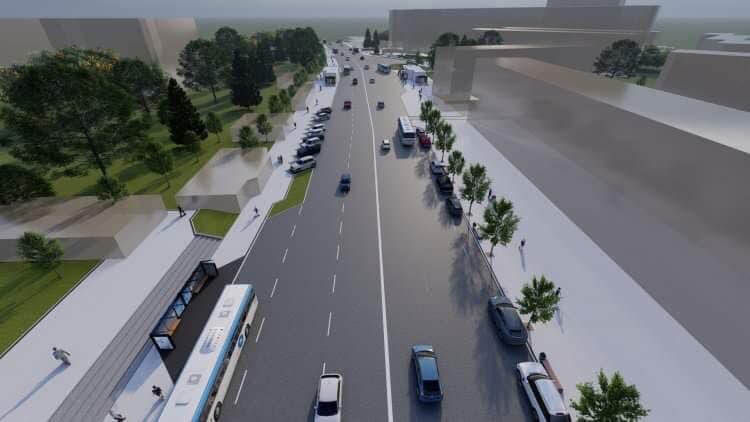 На бульваре Дечебал планируют реконструировать пешеходную зону