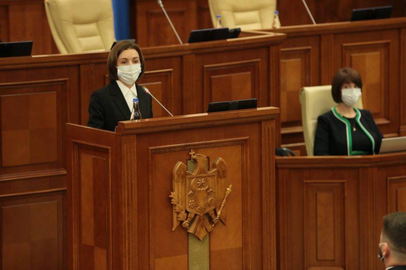 Заявление: 40-минутное выступление Санду в парламенте обошлось гражданам в миллион леев