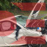 Skoda и Fiat столкнулись на мокрой дороге. Пострадали три человека