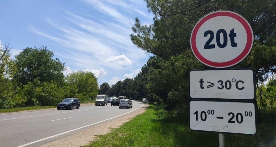 В жару движение большегрузов по улицам муниципия запрещено