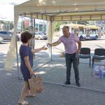 Адреса палаток в Кишинёве, где в жару можно выпить воды и получить помощь