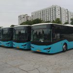 В Кишинёв прибыли первые 5 из 100 новых автобусов ISUZU