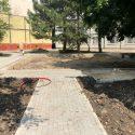 В столичном секторе Центр обустраивается ещё одна зелёная зона (ФОТО)