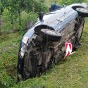 Занесло на повороте: в Первомайске перевернулась легковушка, есть пострадавшие