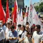 Несколько тысяч человек принимают участие в акции протеста против закрытия участков в Приднестровье