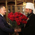 Игорь Додон поздравил Митрополита Владимира с днём рождения
