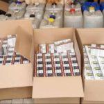 """В Бельцах """"прикрыли"""" нелегальный бизнес: изъято более тонны алкоголя и 11 тысяч пачек сигарет"""