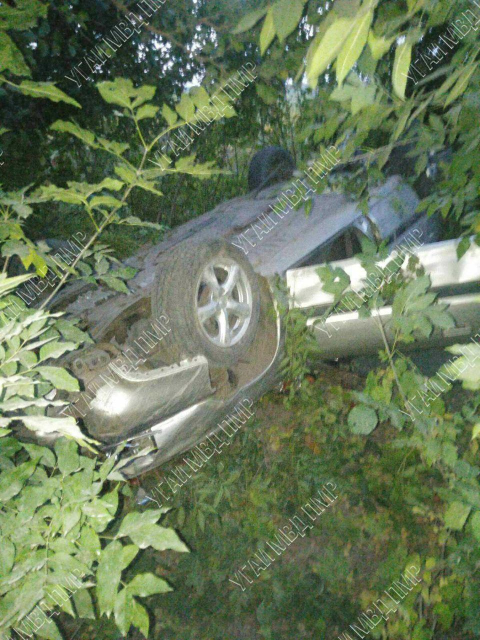 «Пьяная» авария на трассе. Водитель сбежал