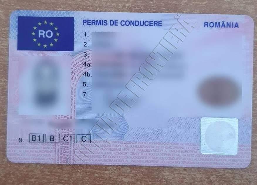 Житель Кишинёва купил права за 150 евро и попался с ними на границе