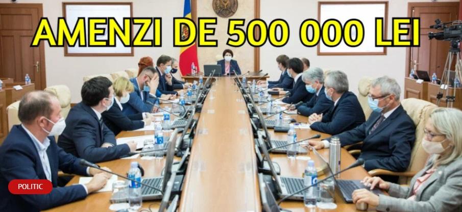 В оппозиции – одно, во власти – другое: ПДС хочет штрафовать граждан на полмиллиона леев