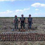 Сапёры Нацармии обезвредили в Каушанах и Штефан-Водэ около 450 снарядов времён ВОВ