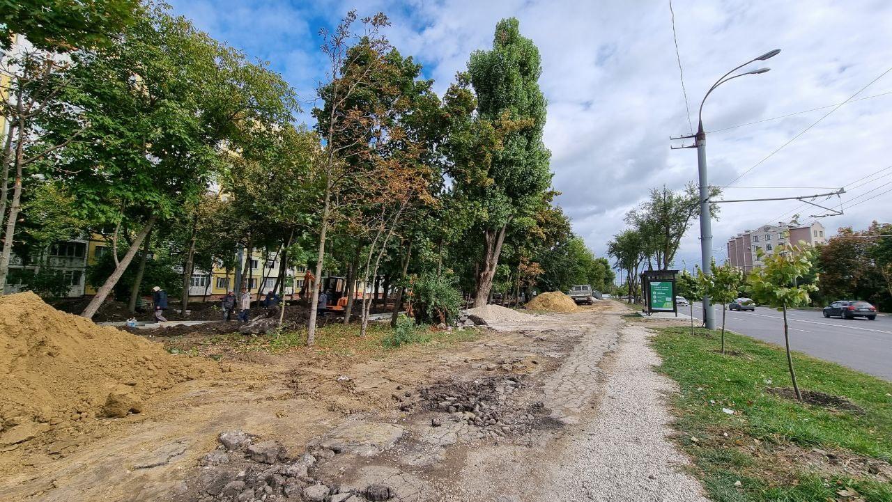 Работа над инфраструктурным проектом на улице Миорица идёт полным ходом