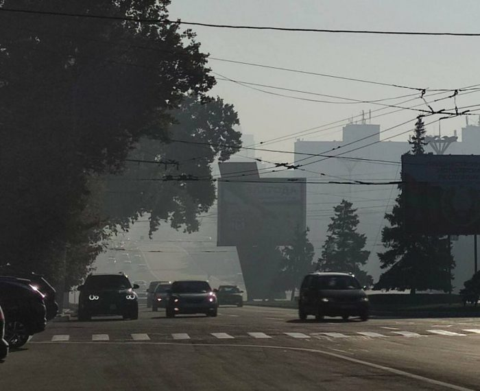 Тирасполь накрыло дымом из-за пожара на свалке