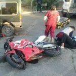 Мотоциклиста доставили в больницу в тяжёлом состоянии после ДТП в Первомайске (ФОТО)