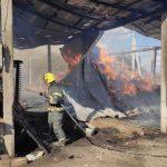 В Фалештах загорелся склад с кормом для животных (ФОТО)