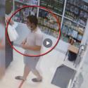 """Зашёл за лекарствами, а вышел с телефонами: дерзкий """"аптечный вор"""" попал на видео"""