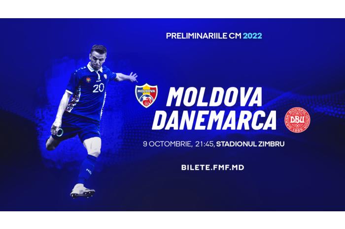 Завтра состоится футбольный матч между сборными Молдовы и Дании