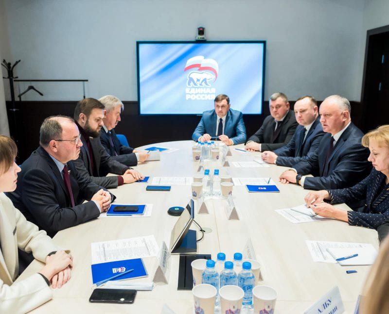 Делегация ПСРМ во главе с Игорем Додоном провела встречу с депутатами «Единой России» (ФОТО)
