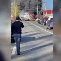 Дорога Комрат-Кишинёв заблокирована: горит грузовик (ВИДЕО)