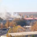 Пожар на Буюканах: горит мансарда жилого дома (ВИДЕО)